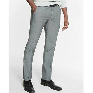 Express Extra Slim Gray Chambray Dress Pants